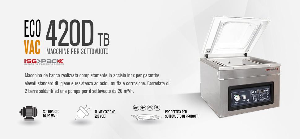 Confezionatrice sottovuoto Eco Vac 400D TB