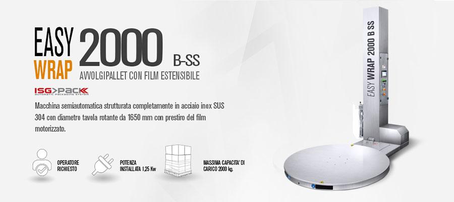 Scheda fasciapallet Easy Wrap 2000 B SS in acciaio Inox