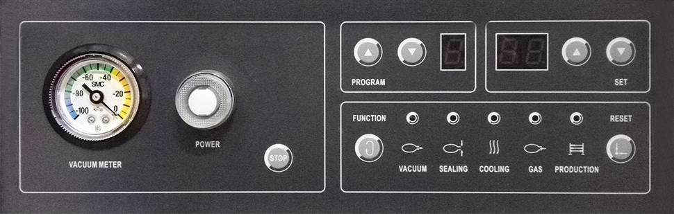 Pannello di controllo macchina confezionatrice sottovuoto