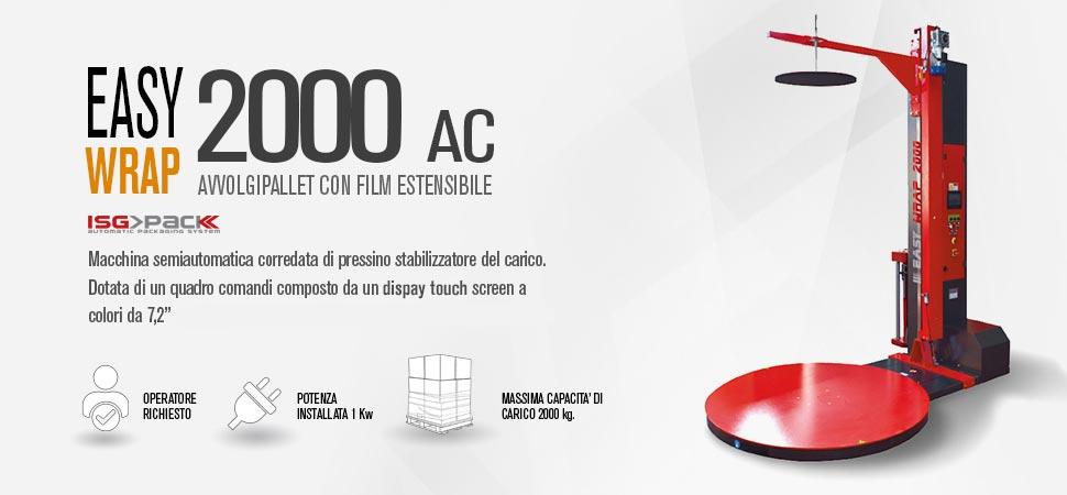 Avvolgipallet Easy Wrap 2000 AC con pressino stabilizzatore