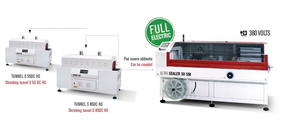 Confezionatrice angolare automatica Ultra Sealer con tunnel di termoretrazione