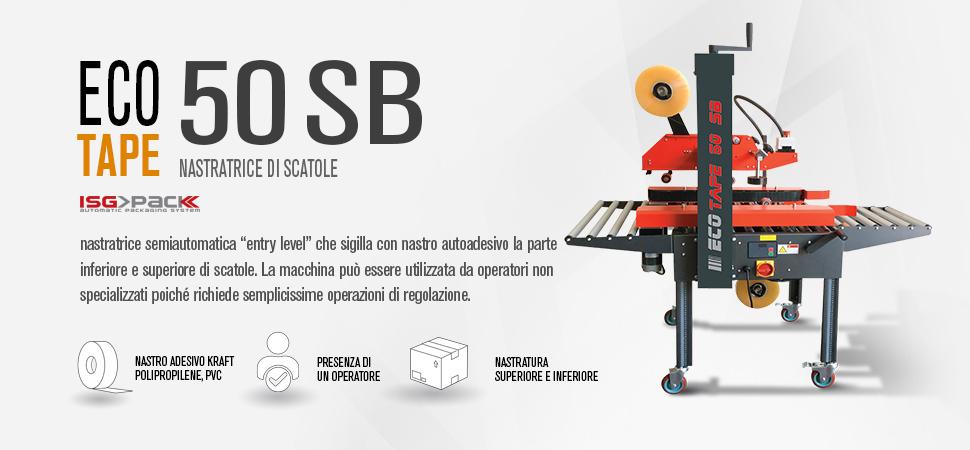 Nastratrice semiautomatica Eco tape 50 SB