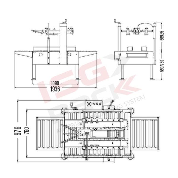 Layout semi-automatic carton sealer Easy Tape 50 SB