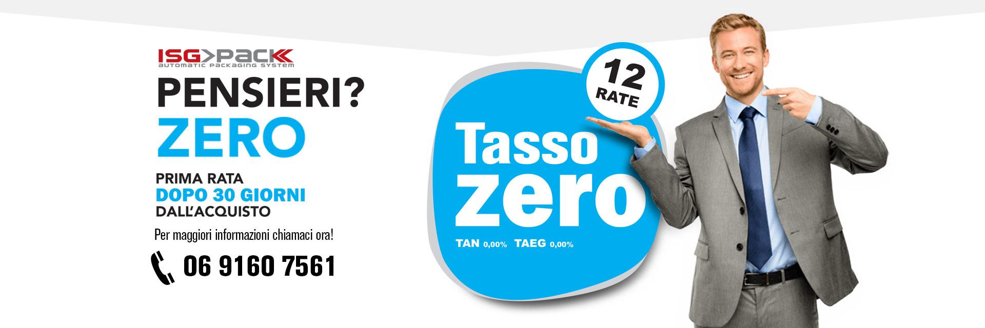 Tasso Zero ISG PACK - Chiama ora per scroprire i vantaggi