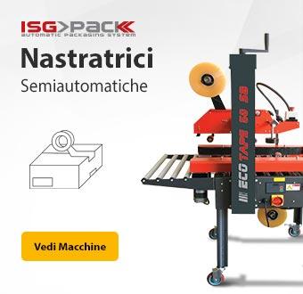 Nastratrici semiautomatiche per scatole - ISG PACK