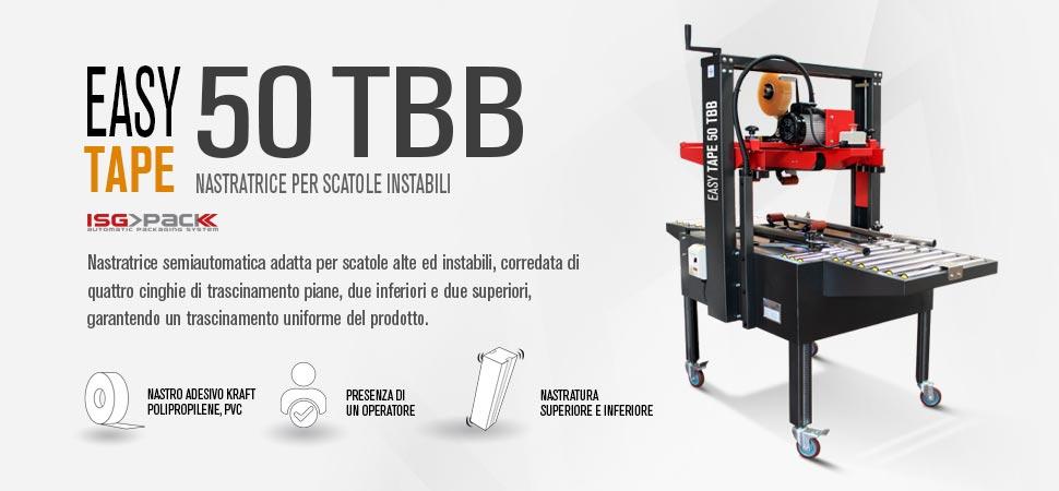 Nastratrice semiautomatica per scatole instabili Easy Tape 50 TBB
