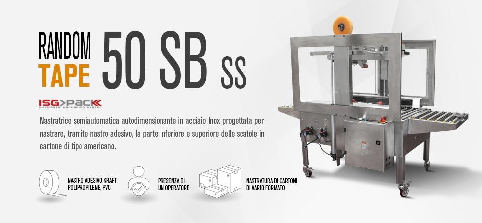 Nastratrice in acciaio inox semiautomatica Random Tape 50 SB SS