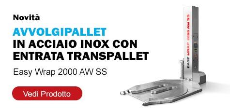 Avvolgipallet in acciaio Inox Easy Wrap 2000 AW SS