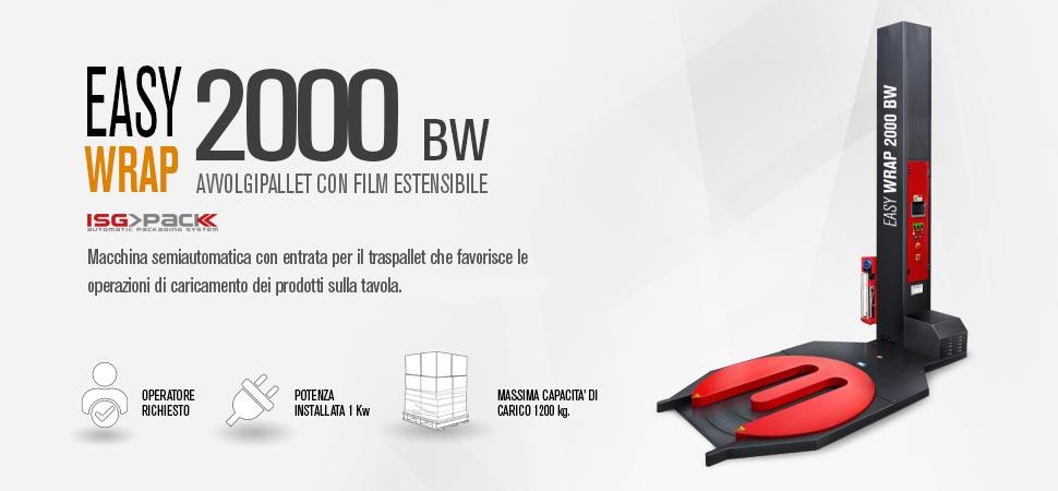 Fasciapallet con carrello prestiro motorizzato per Easy Wrap 2000 BW