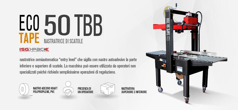 Nastratrice semiautomatica Eco tape 50 TBB a dimensionamento manuale