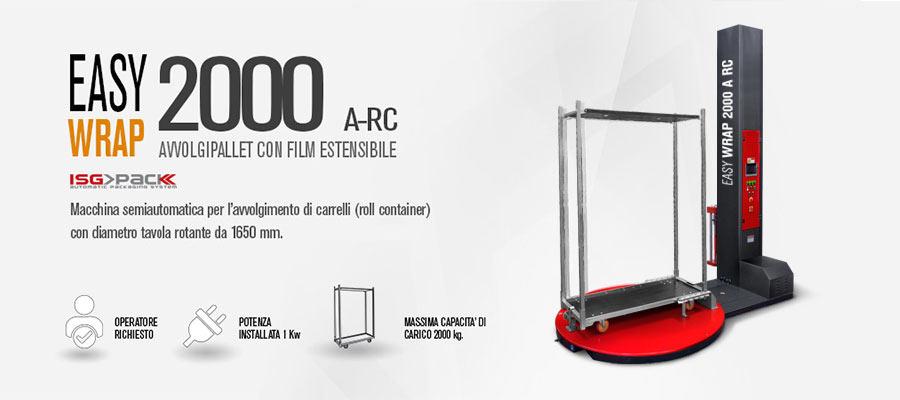 Fasciapallet semiautomatic per l'avvolgimento di carrelli tramite film estensibile