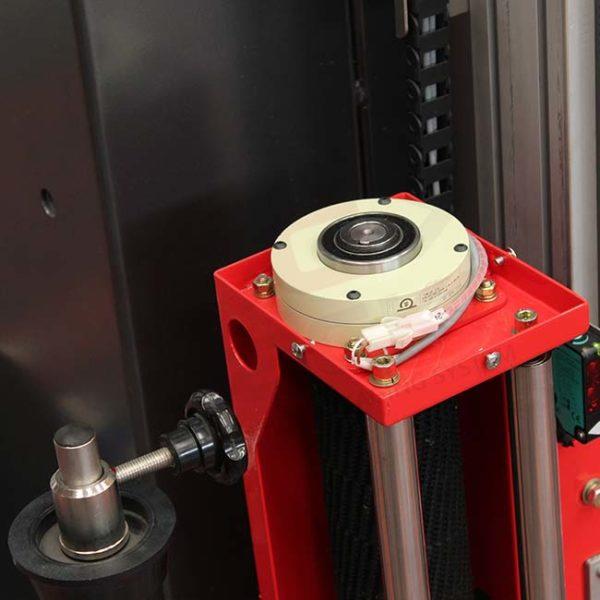 Dettaglio frizione elettromagnetica avvolgipallet isgpack
