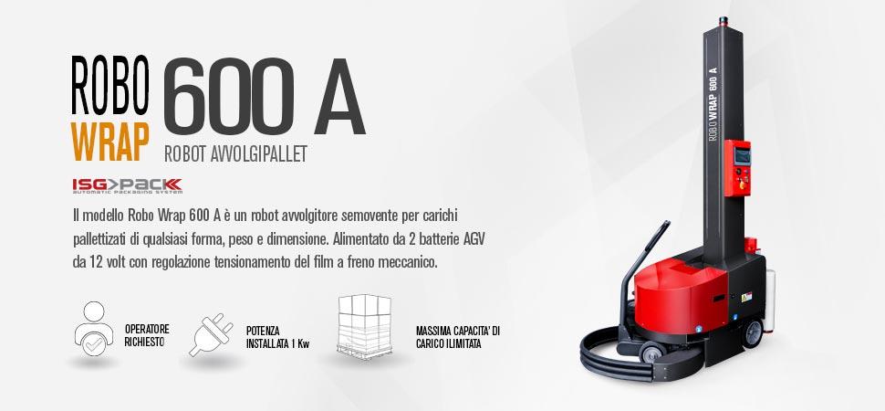 Robot semovente fasciapallet modello Robo Wrap 600A