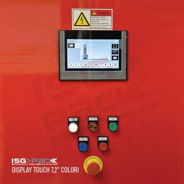 Display touch avvolgipallet con 10 cicli di lavoro
