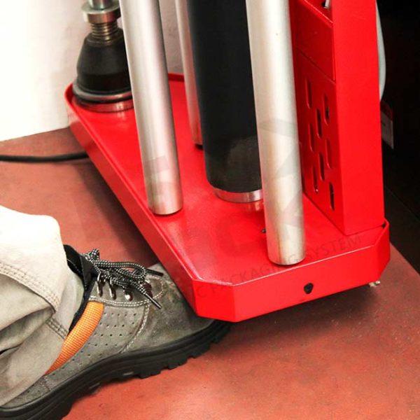 Sistema protezione arresto carrello porta bobina film