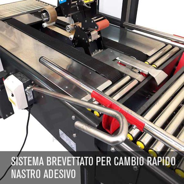 Sistema cambio rapido nastro adesivo