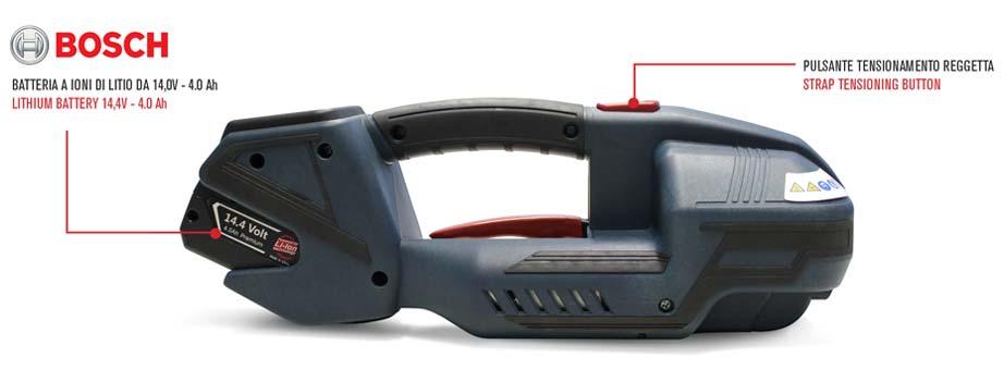 tendireggia a batteria shark 13-16 per pp e pet