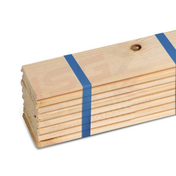 Rilegatura aste in legno con fascettatrice automatica
