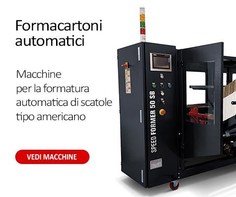 Formacartoni automatici per la formatura di scatole di tipo americano