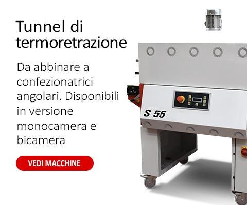 Tunnel termoretraibili nel formato monocamera e bicamera