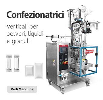 Confezionatrici mini verticali per polveri, liquidi e granuli