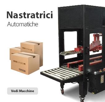 Nastratrici automatiche per la nastratura di scatole in cartone tipo americano