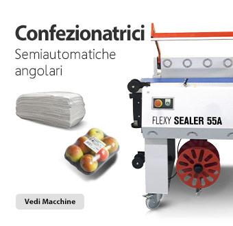 Confezionatrice semiautomatica angolare