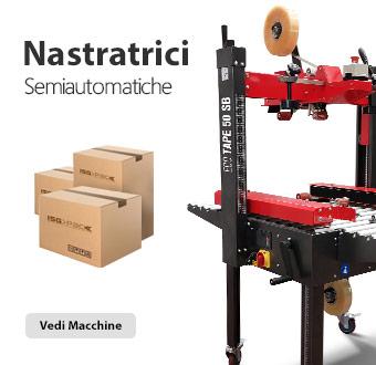 Nastratrici semiautomatiche per scatole in cartone di tipo americano