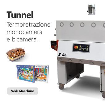 Tunnel di termoretrazione monocamera e bicamera