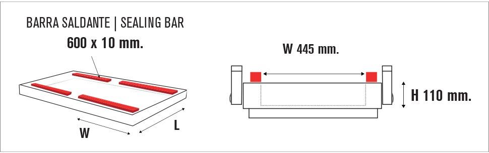 Camera sottovuoto MULTI VAC 600SP II