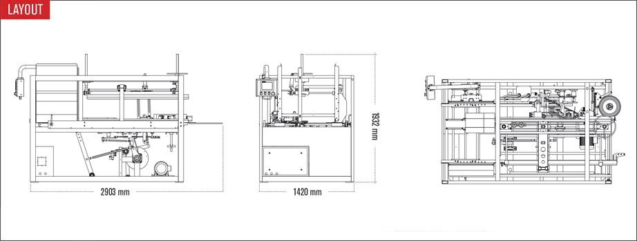 Layout Formatore per scatole Ultra Form 30-40 T