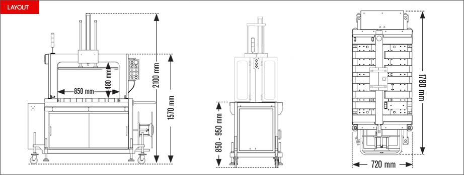 Layout reggiatrice automatica Easy Strap 309BP - 312BP