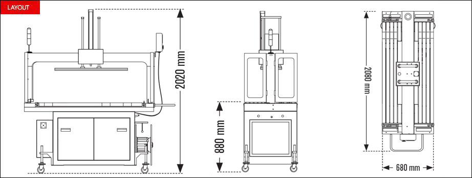 Layout reggiatrice automatica Speed Strap serie RP