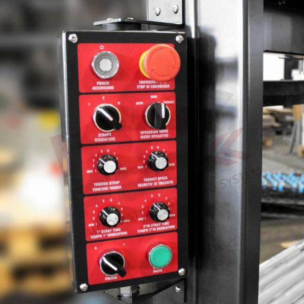 Pannello di comandi analogico reggiatrice automatica