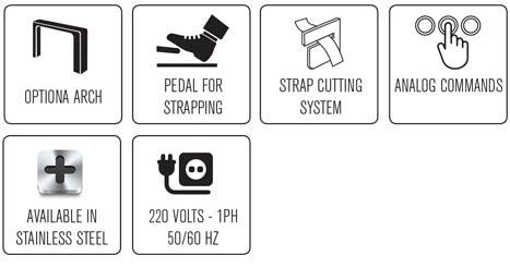 Funzioni della reggiatrice automatica Easy Strap 309 - 312