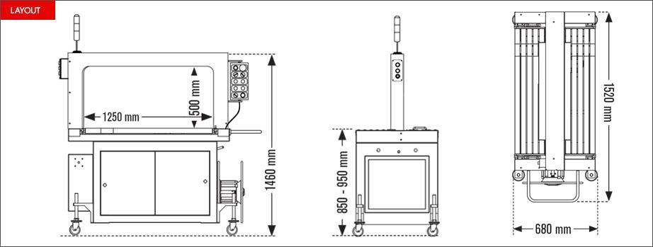 Layout reggiatrice automatica Easy Strap 309R