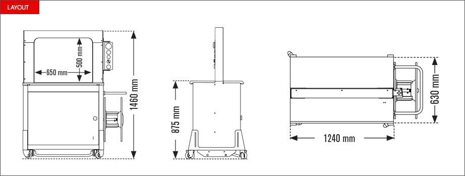 Layout reggiatrice automatica Easy Strap 309 - 312