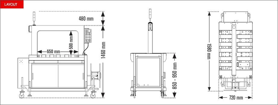 Layout reggiatrice automatica Easy Strap 309B - 312B