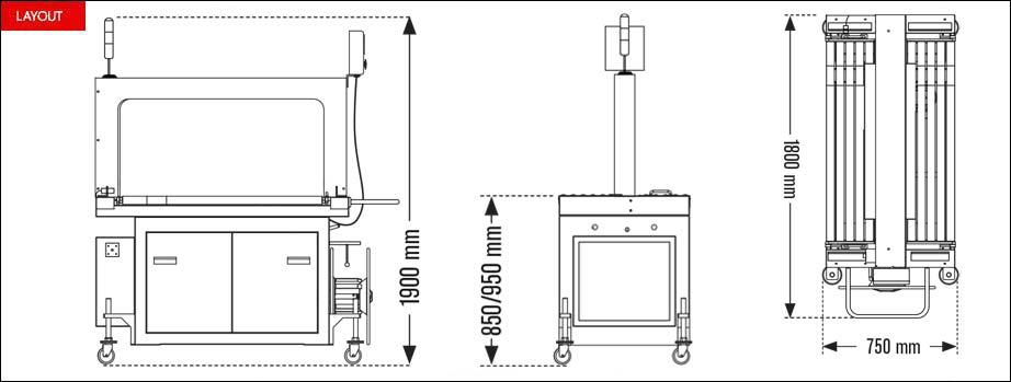 Layout reggiatrice automatica Speed Strap serie R
