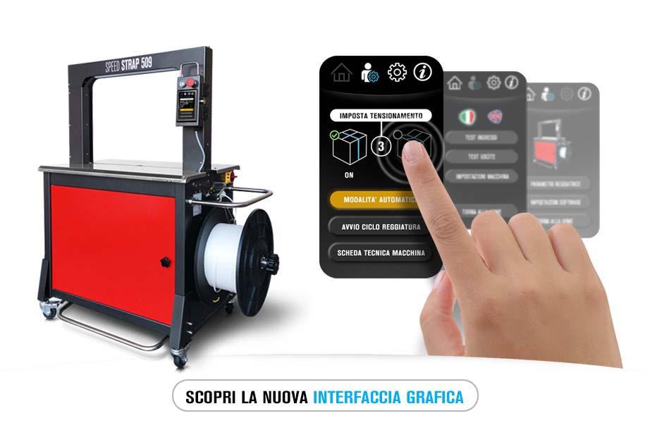 Scopri la nuova interfaccia grafica della reggiatrice Speed Strap