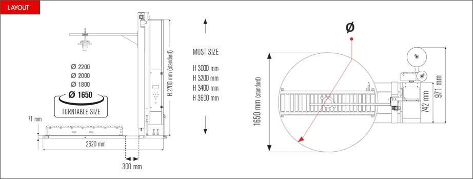Layout avvolgitore per serramenti Easy Wrap 2000 DWC