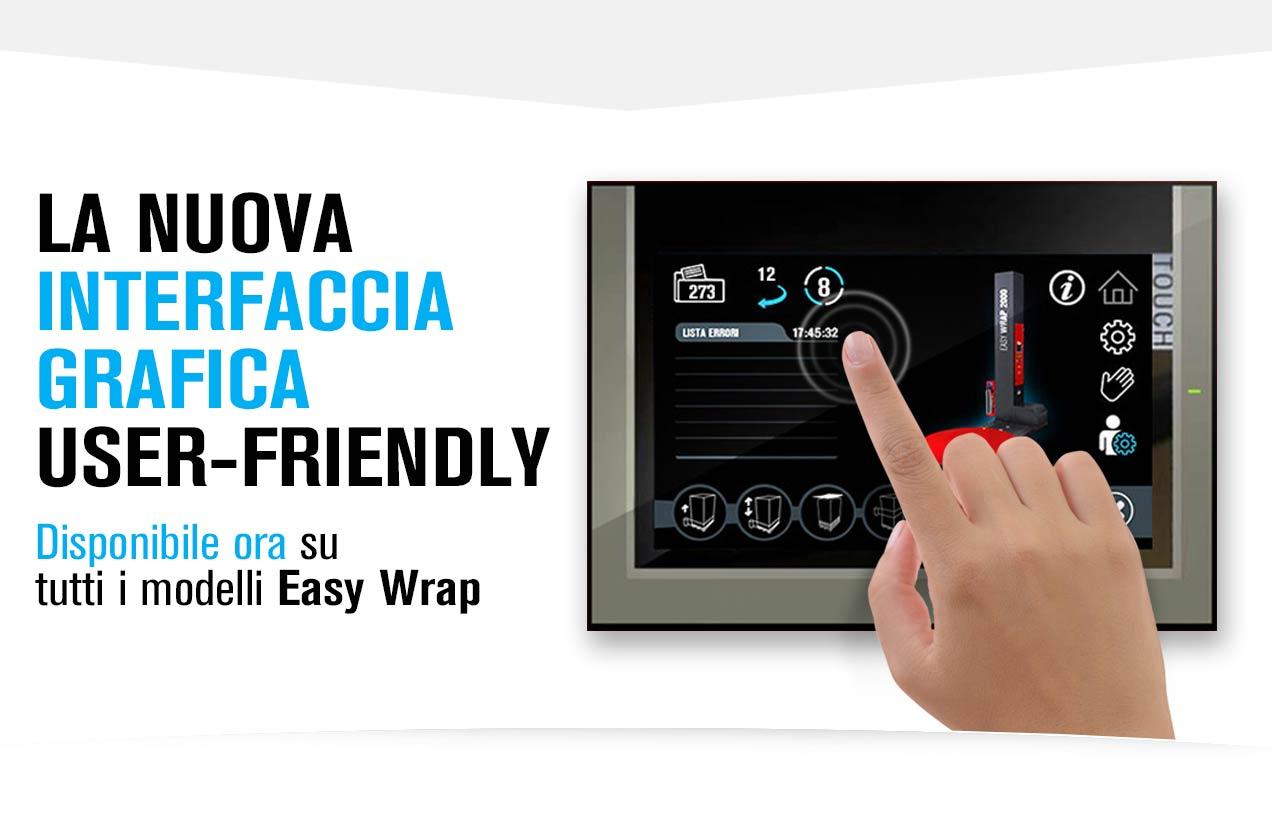La nuova interfaccia dei modelli Easy Wrap