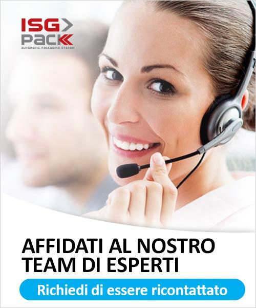 Richiedi supporto al nostro Team ISGPACK